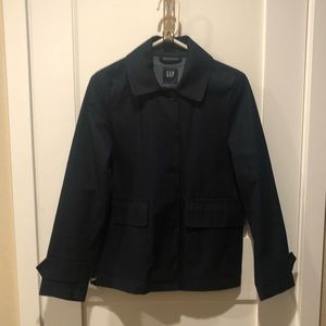 Gap Navy Trench Coat Waste length size small